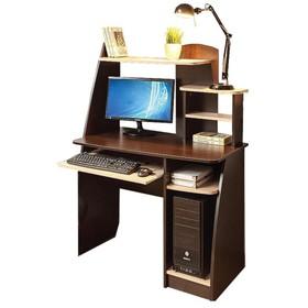 Стол компьютерный Интел-17 970х600х1350 Венге магия, Дуб Девонширский
