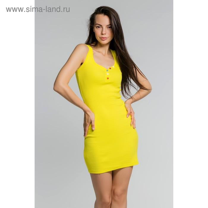Платье женское, размер 52, цвет жёлтый (М-256-15)
