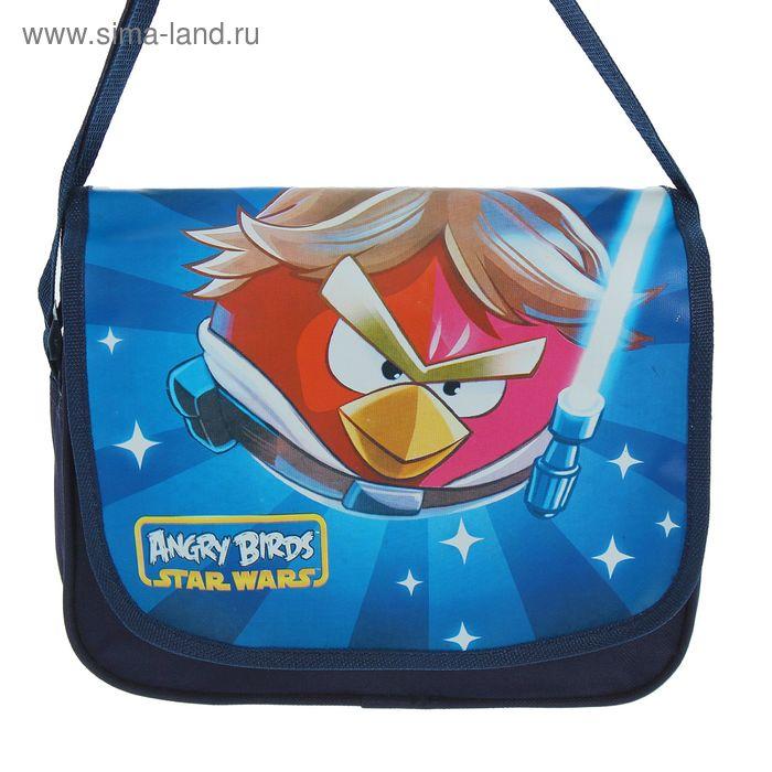 Сумка детская га молнии Angry Birds, 1 отдел, синяя