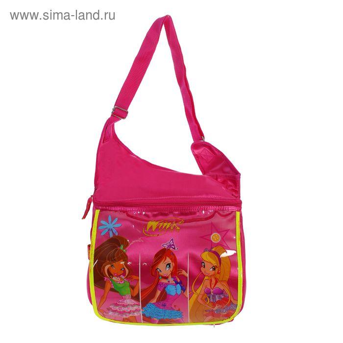 Сумка детская на молнии Winx, 1 отдел, 1 наружный карман, розовая