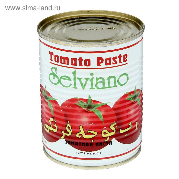 "Томатная паста 380 г ""Selviano"" железная банка"