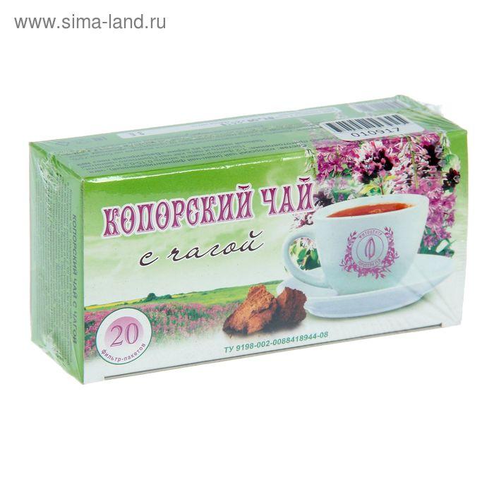 Гордеев, Копорский чай с чагой, фильтр пакет, 20 шт, кор.