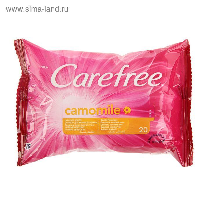 Влажные салфетки для интимной гигиены Carefree, с ромашкой, 20 шт