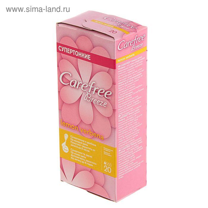 Прокладки ежедневные «Carefree» Breeze Lemon Verbena, ароматизированные, 20 шт