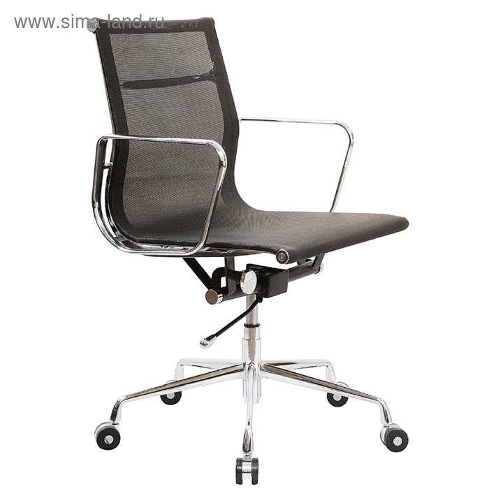 Кресло руководителя CH-996-Low/black низкая спинка черный сетка крестовина хромированная