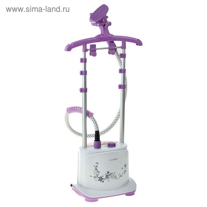 Отпариватель LuazON LO-04, 1750W, 6 режимов, 2,0л - 80 мин использования, бело-фиолетовый
