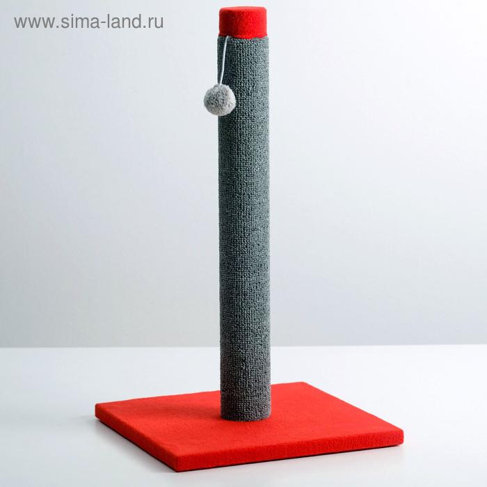"""Когтеточка""""Столбик"""" Lowcost ковролиновая,  54 х 31 см микс цветов и игрушек"""