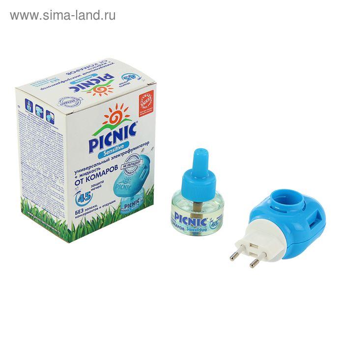 Электрофимигатор от комаров Picnic Sensitive + жидкость  45 ночей, 30 мл