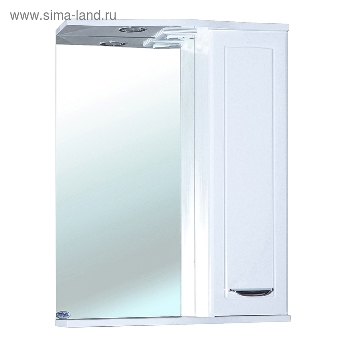 Зеркало-шкаф Bellezza Классик 55 см белое, правое с подсветкой