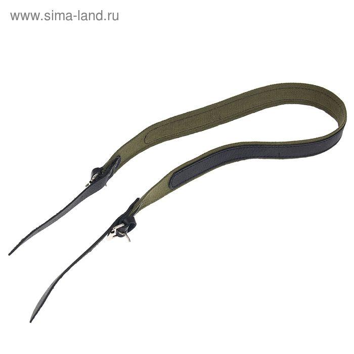 Ремень комбинированный ружейный, кожа/брезент