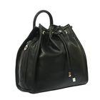 Рюкзак молодёжный на шнурке, 1 отдел, цвет чёрный