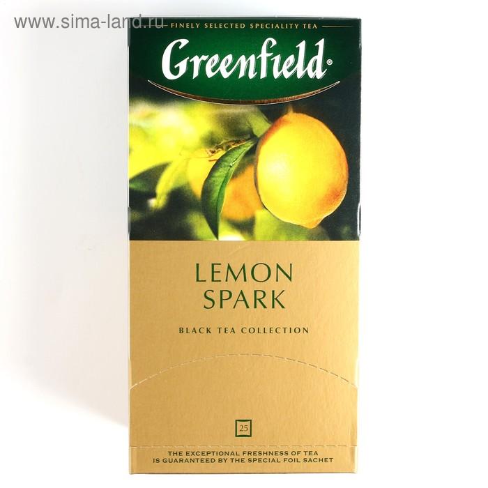 Чай Гринфилд Lemon Spark black tea 25п*1,5 гр.