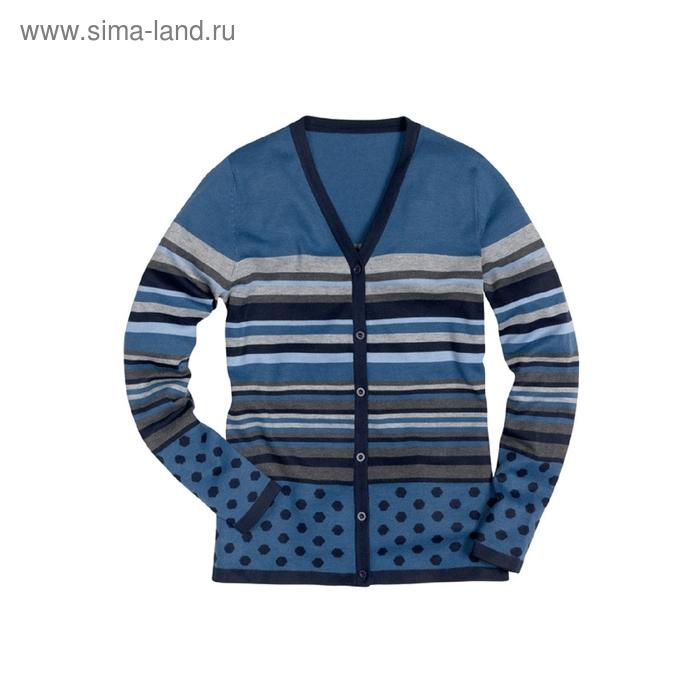 Жакет женский, размер L, цвет синий KJX671