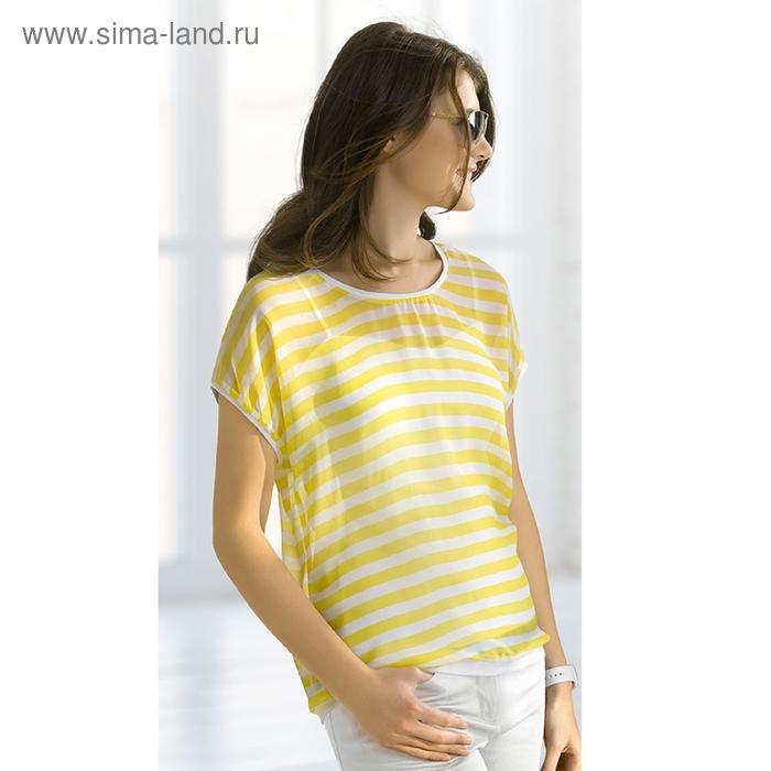 Футболка женская, размер XS, цвет лимонный DT681/1