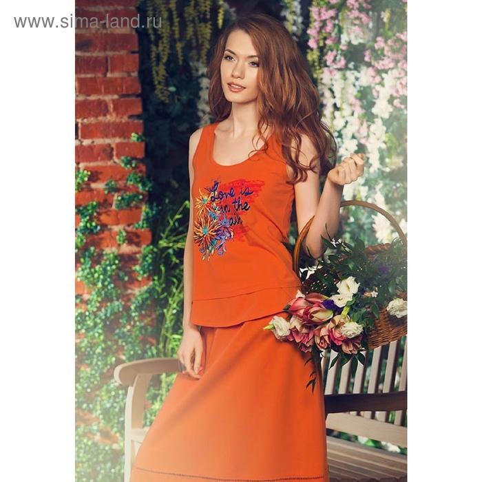 Майка женская, размер XS, цвет оранжевый DVT685/2