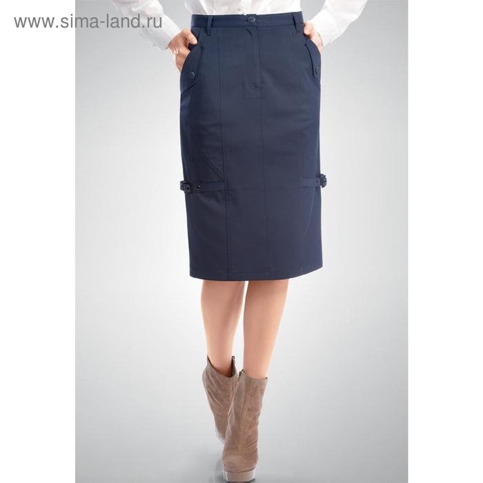 Юбка женская, размер XL, цвет тёмно-синий FWS0708