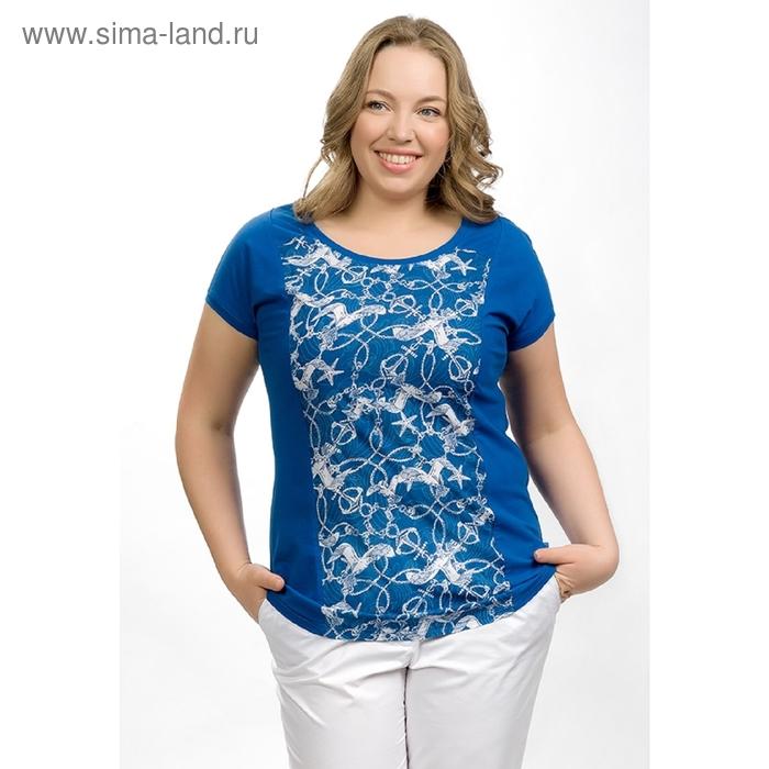 Футболка женская, размер 3ХL, цвет джинсовый XT681