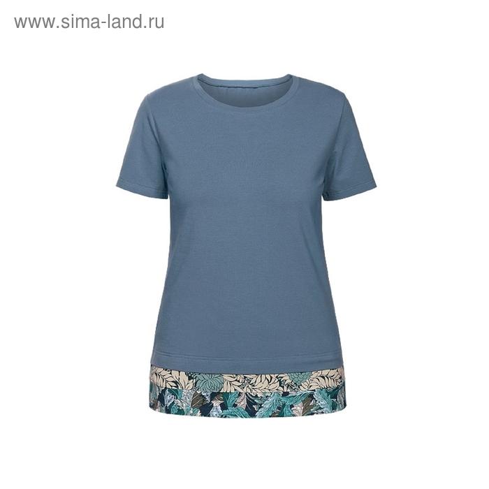 Футболка женская, размер S, цвет серо-голубой DT680