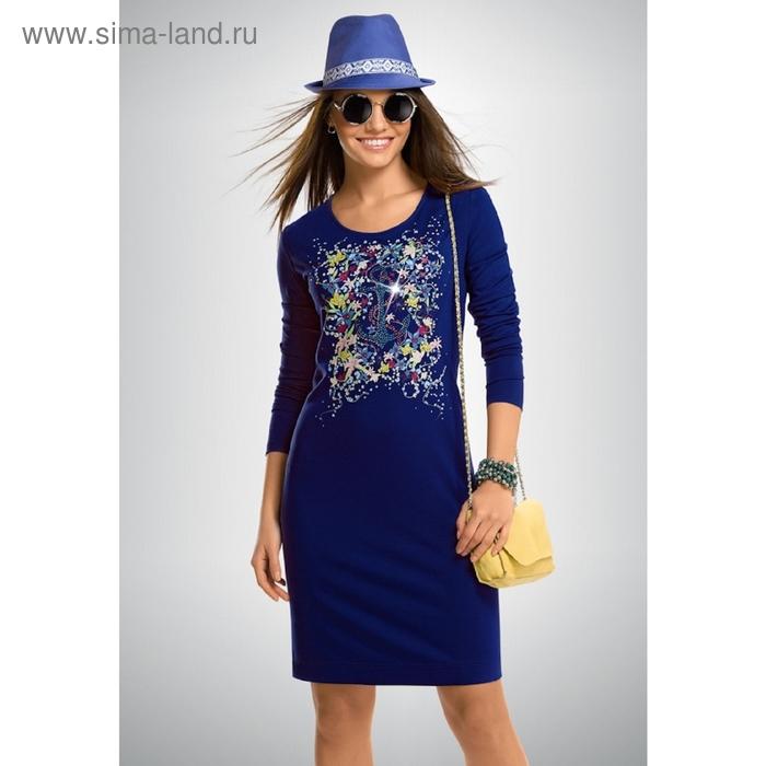Платье женское, размер S, цвет синий FDJ658