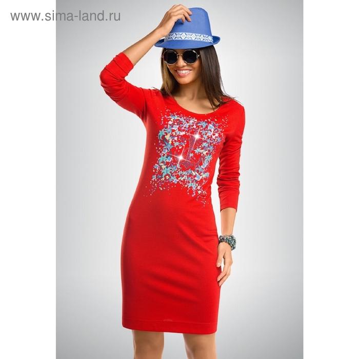 Платье женское, размер М, цвет коралловый FDJ658