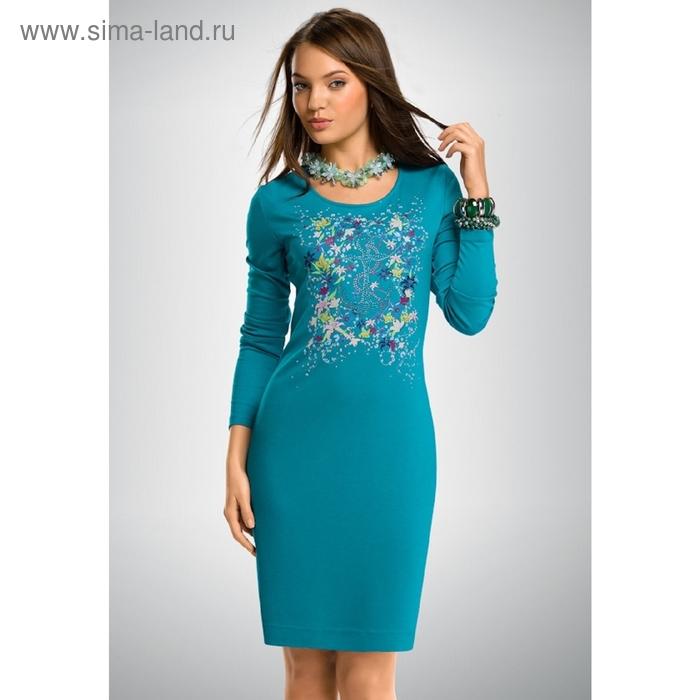 Платье женское, размер L, цвет лазурный FDJ658
