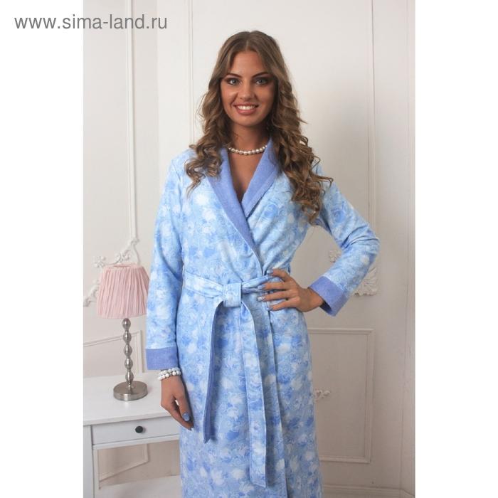 Халат женский Liana, размер 2XL, цвет голубой 452