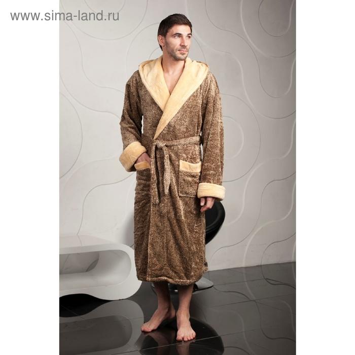 Халат мужской, размер 3ХL, цвет коричневый 102