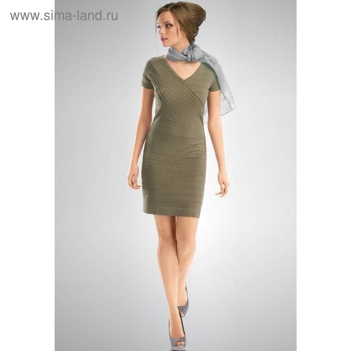 Платье женское, размер S, цвет хаки KDT34