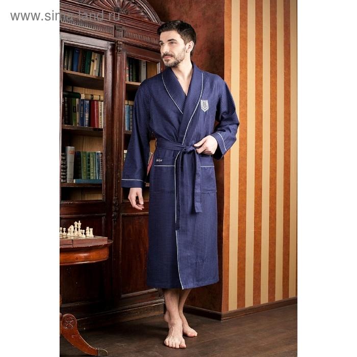 Халат мужской Monte Carlo, размер 3XL, цвет синий