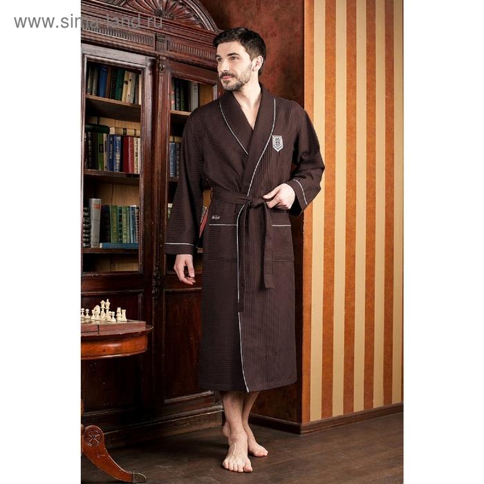 Халат мужской Monte Carlo, размер 3XL, цвет шоколад