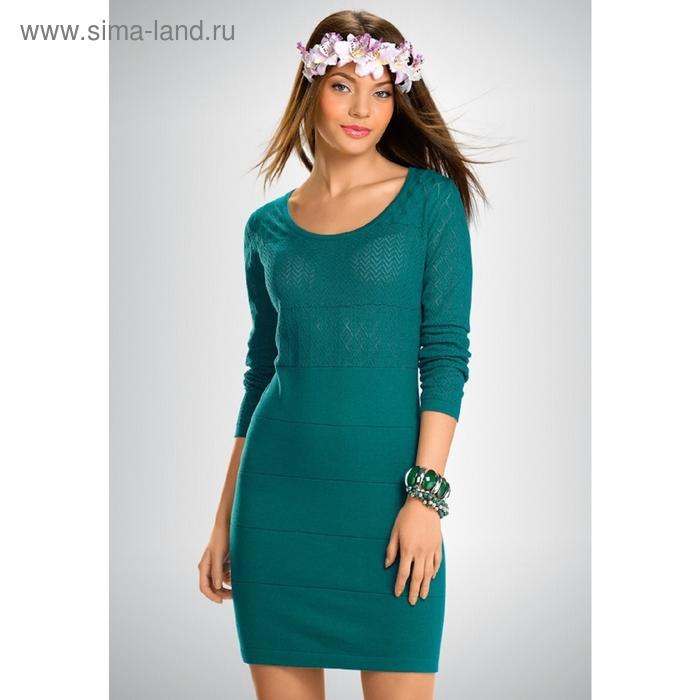 Платье женское, размер S, цвет бирюзовый KDJ659