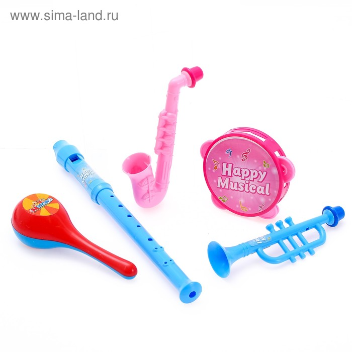 """Набор музыкальных инструментов """"Мульт Бэнд-2"""", 6 предметов"""