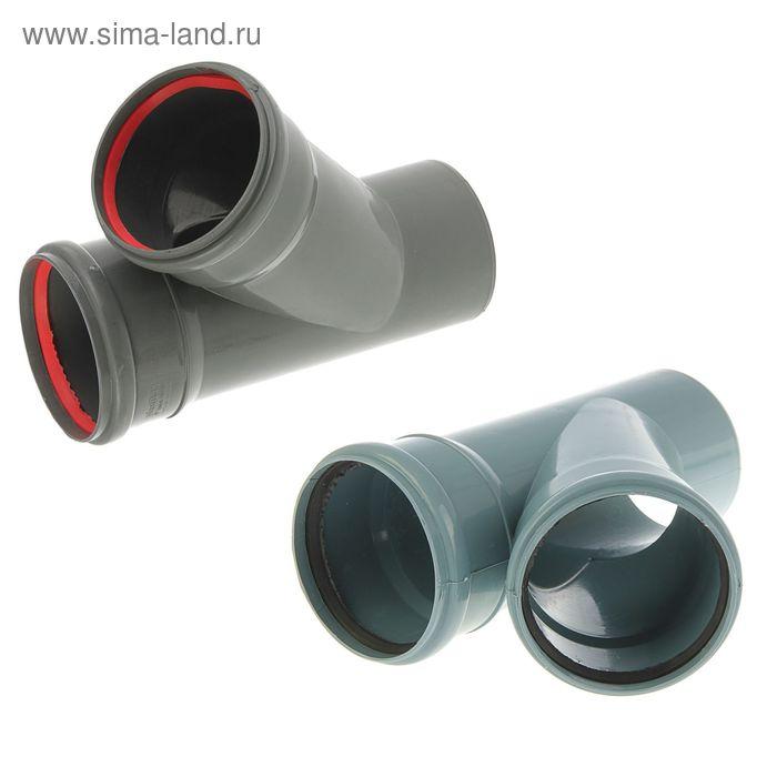 Тройник канализационный, 110 х 110 мм, 45°