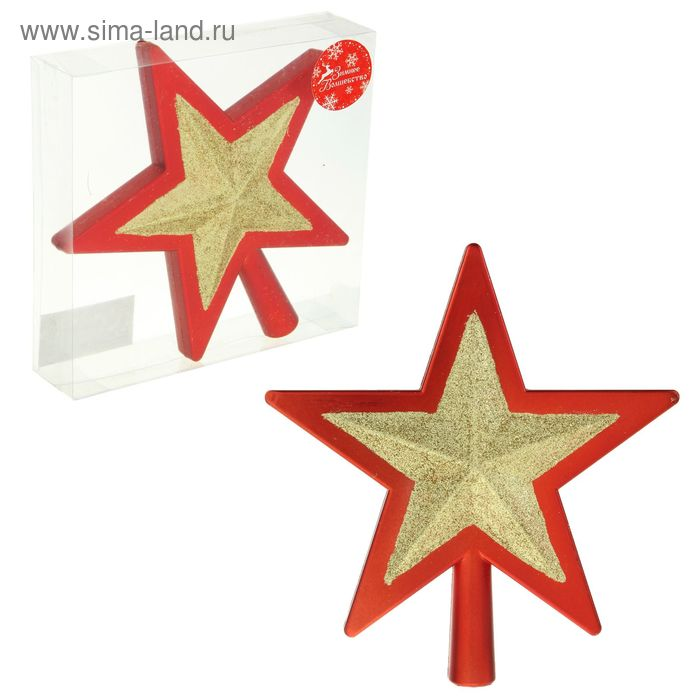 "Звезда на ёлку ""Кант"" красно-золотая"