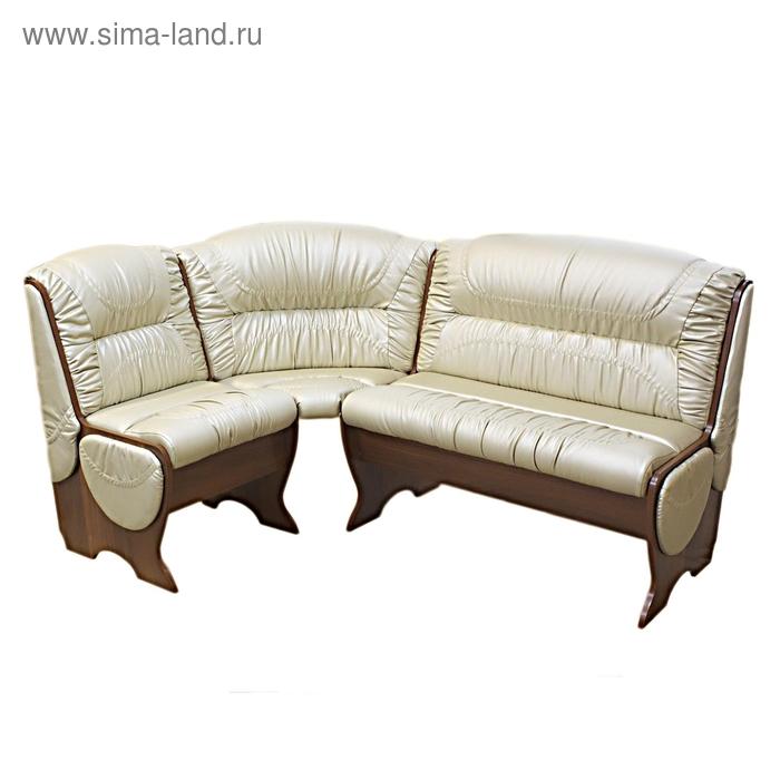 Угловой диван КАЛИПСО 1710х1210х940 Орех итал/жемчужный.