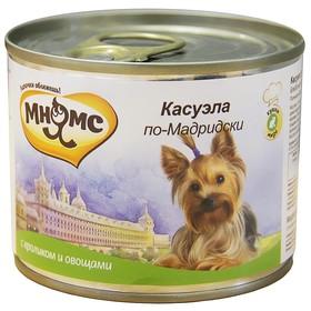 """Консервы для собак Мнямс """"Касуэла по-Мадридски"""" кролик с овощами, 200 г"""