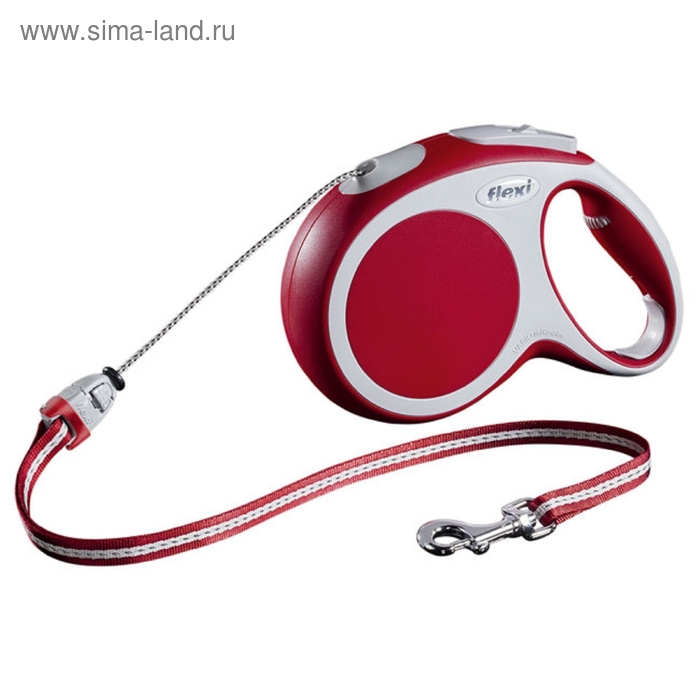 Рулетка Flexi  VARIO M (до 20 кг) 8 м трос, красная
