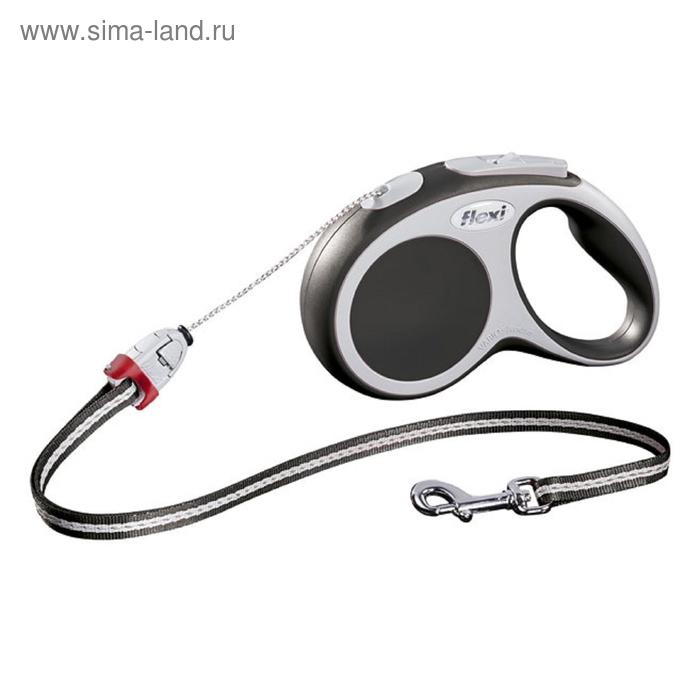 Рулетка Flexi  VARIO S (до 12 кг) 5 м трос, антрацит