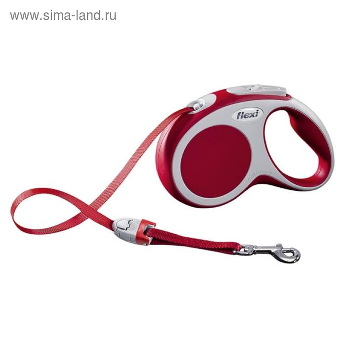 Рулетка Flexi  VARIO S (до 15 кг) 5 м лента, красная