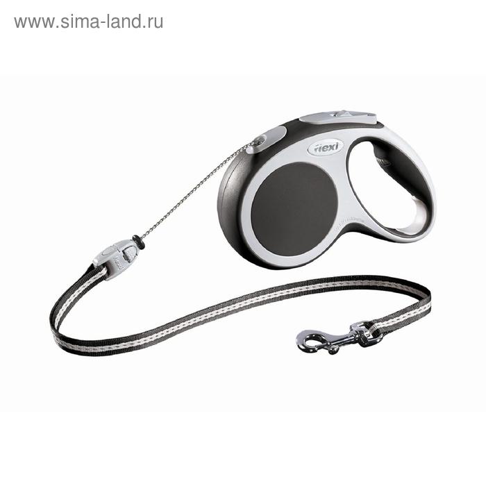 Рулетка Flexi VARIO М (до 20 кг) 5 м трос, антрацит