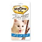 Лакомые палочки Мнямс для кошек с лососем и форелью, 3 х 5 г