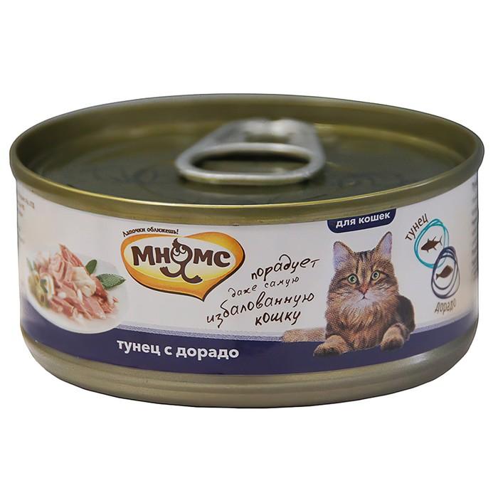 Консервы для кошек Мнямс тунец с дорадо в нежном желе, 70 г