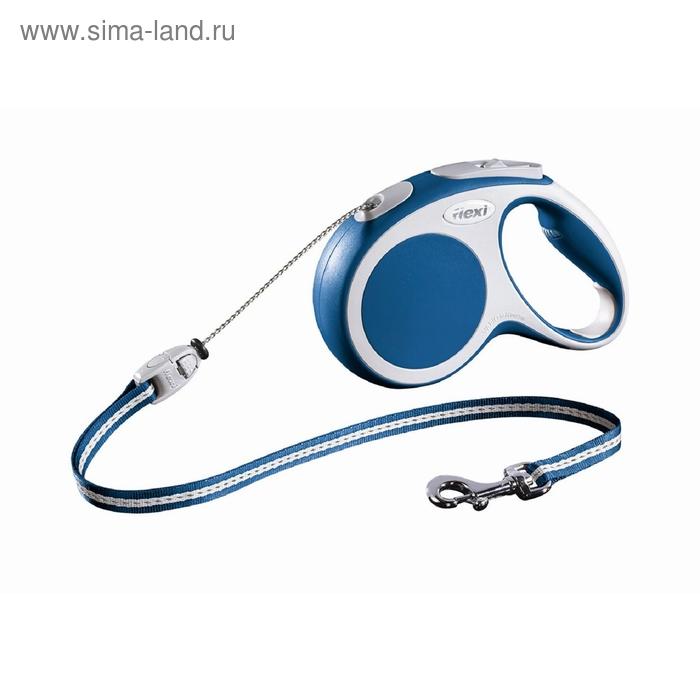 Рулетка Flexi VARIO М (до 20 кг) 5 м трос, синяя