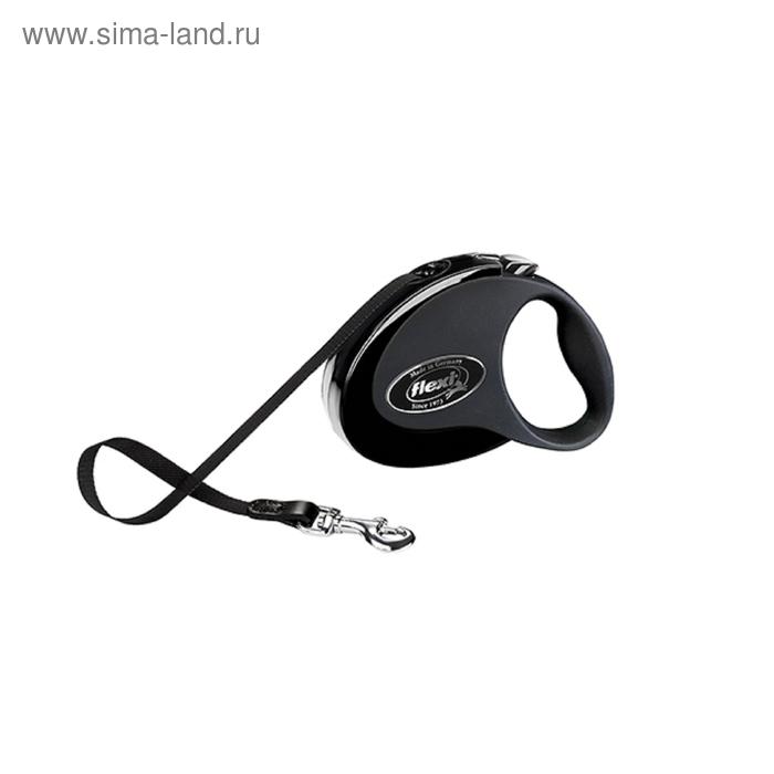 Рулетка Flexi  Collection S (до 12 кг) 3 м лента, черная