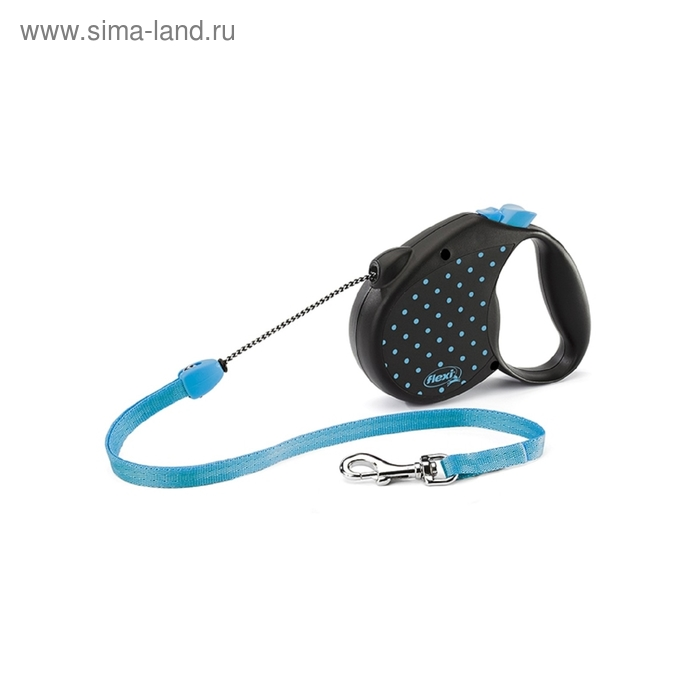 Рулетка Flexi  Color  М (до 20 кг) трос, 5 м голубая
