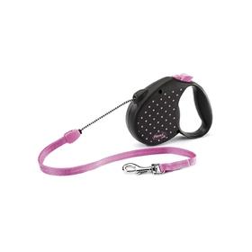 Рулетка Flexi  Color M (до 20 кг) трос, 5 м розовая