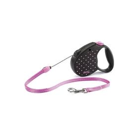 Рулетка Flexi  Color S (до 12 кг) трос, 5 м розовая