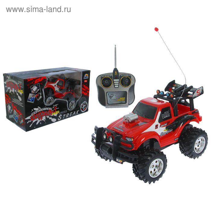 """Машина радиоуправляемая """"Турбоджип"""", работает от батареек, МИКС"""