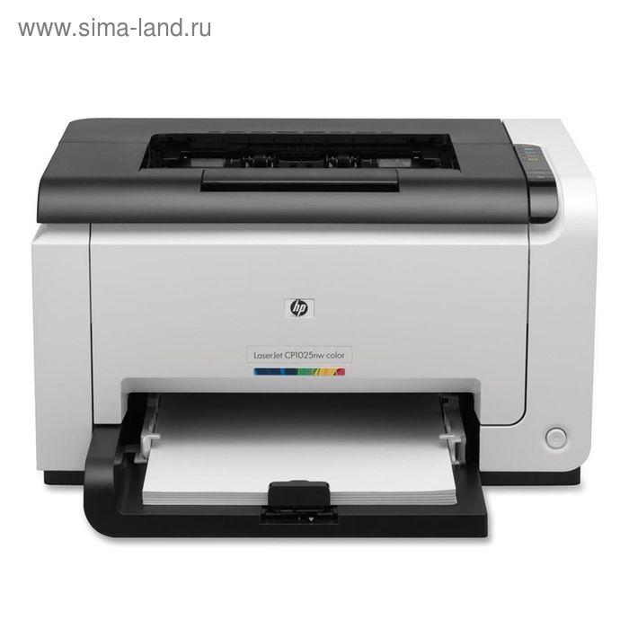 Принтер лазерный цветной HP Color LaserJet Pro CP1025nw (CE918A), А4, WiFi