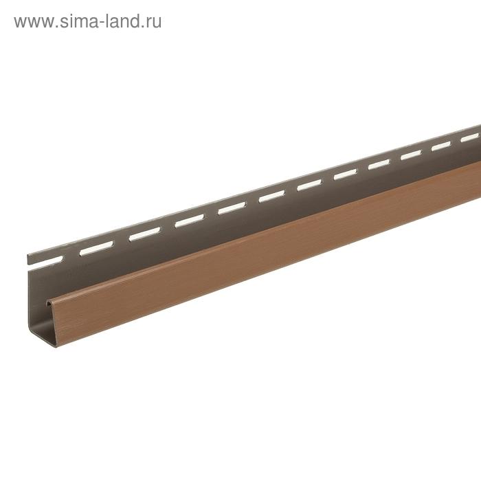 Фасадный J-профиль (Каштановый) 3050мм DÖCKE-R
